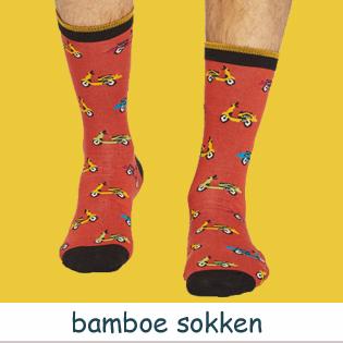 bamboe heren sokken met print