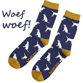 sokken met honden erop