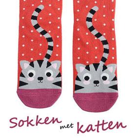 sokken met katten erop