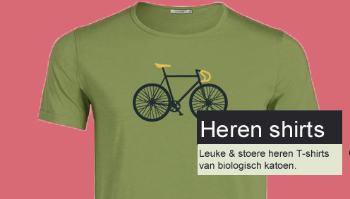 heren shirts bio katoen fiets  print