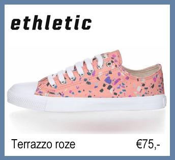 vegn damesschoenen ethletic terrazzo roze