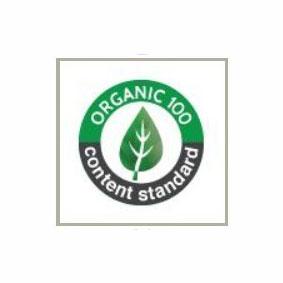 organic content standard 100 label
