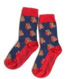 Bio-katoenen sokken met roodborstjes _