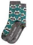 Bio-katoenen sokken met wasbeertjes _