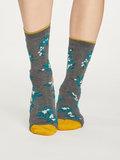 Bamboe sokken Foliage grijs _