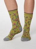 Bamboe sokken Floreal pea green_