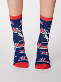Bamboe sokken Gatto cat twilight blue