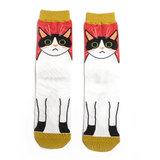 katten print sokken dames