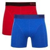 Bamboe Boxershorts Levi 04 (2-pack) -Rood & Blauw_