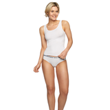 Bamboe topjes wit Anna 2-pack_