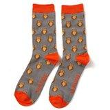 grijze sokken met uiltjes