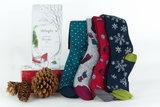 Bamboe herensokken 4 paar cadeaudoos Christmas _