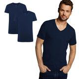 Bamboe T-Shirt v-hals Velo 2 pack – navy_