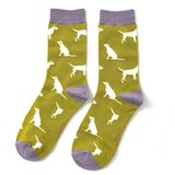 labrador print op bamboe sokken