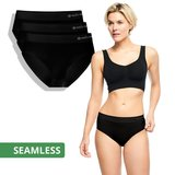 Seamless slip Belle 3-pack zwart_
