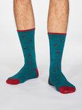heren sokken teal green