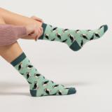 dames sokken bamboe mint