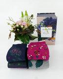 dames sokken bloemen