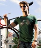 fiets t shirt bottle green