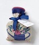 bamboe 1 paar damessokken spotty bouquet in cadeauzakje zakje_
