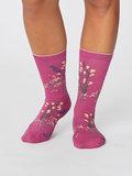 bamboe magenta pink sokken