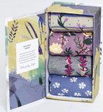 Bamboe sokken 4 paar in cadeaudoos wildflowers _