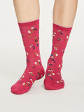 Bamboesokken 4 paar cadeaudoos Rosie flower dames _