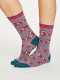 Bamboe dames sokken Animal Kin slate grey_