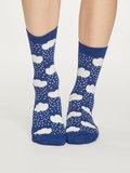 Bamboe dames sokken Rainy cloud sapphire blue_