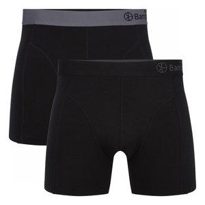 Bamboe boxershorts Levi 02(2-pack) – zwart & Grijs