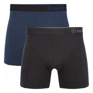 Bamboe boxershorts Levi (2-pack) – Navy & zwart
