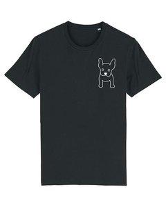 Duurzaam zwart T shirt heren met dog print