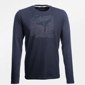 Sale Duurzaam longsleeves shirt Nature Whale navy