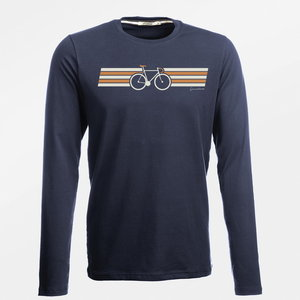 Duurzaam longsleeves shirt Bike Wings navy