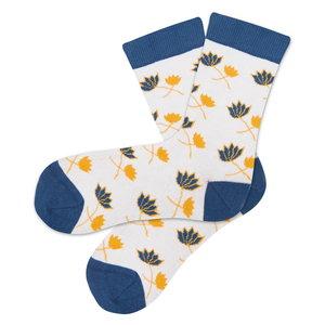 Bio katoenen sokken blossom off white