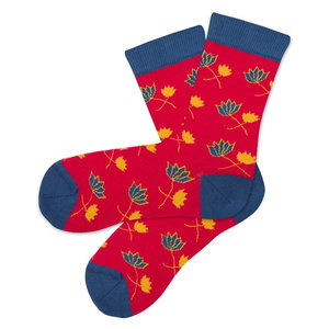 Bio katoenen sokken blossom rood
