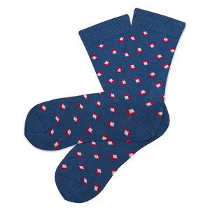 Bio katoenen sokken diamond navy