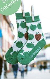 Bio-katoenen sokken met groene appeltjes