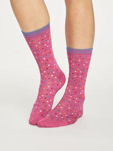 Bamboe sokken Dotty violet