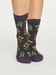 raven grey bamboe sokken