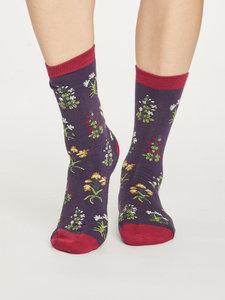 Bamboe sokken sylvan royal purple