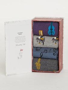 Melody cadeau doos met 4 paar heren sokken