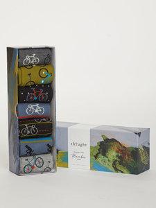 Bamboe 7 paar herensokken in cadeaudoos Bike rider