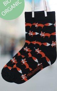 katoenen sokken met vosjes