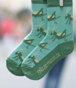 Bio-katoenen sokken met sprinkhaantjes