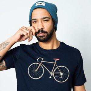 fietsprint op t shirt
