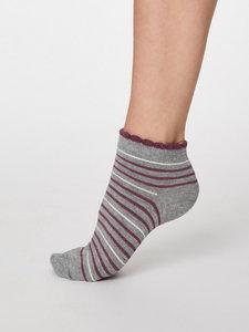 Bamboe enkel sokken grijs