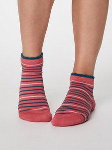 Bamboe enkel sokken sorbet pink