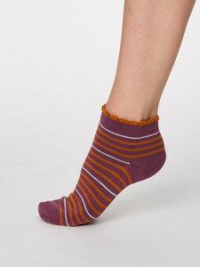 Bamboe enkel sokken paars