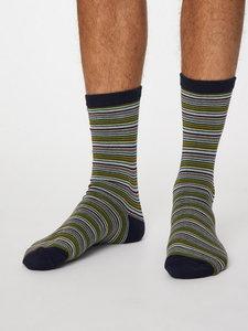gestreepte bamboe sokken
